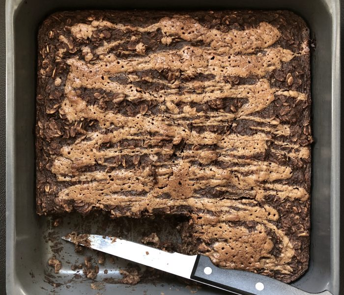 Chocolate for Breakfast?!?! Chocolate Almond Butter Baked Oatmeal