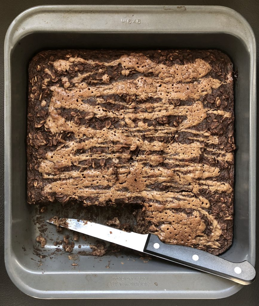 Chocolate Almond Butter Baked Oatmeal